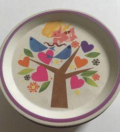 Vintage Retro 60s Original Cute Bird + Heart Motif Rowntrees Tokens Tin Vgc   eBay