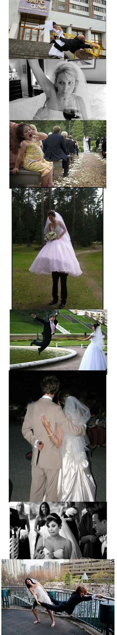 funny wedding pictures! hahah (: I'm sure I'll take a few of these ;) my groom must be able to be silly with me! even on our wedding day!! :D