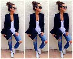 Tomboy Chic. I totally have this look. Need to put it together more often.