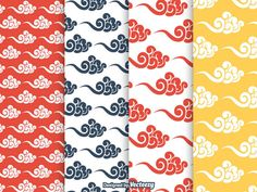 Free Chinese traditional clouds seamless vector patterns. Download and enjoy this baggage vector model.