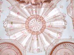 "Pink depression glass unknown pattern by eg2006, via Flickr ""old cafe pattern"""