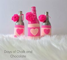 Days of Chalk and Chocolate: Valentine's Day Bottle Vases