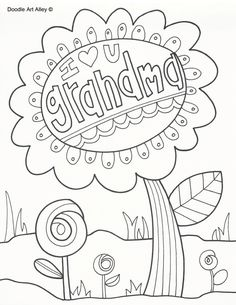 Grandparents Day Coloring Pages Doodle Art Alley Grandma Mothers Day Coloring Sheets, Heart Coloring Pages, Quote Coloring Pages, Coloring Pages For Girls, Free Coloring Pages, Printable Coloring Pages, Coloring Books, Printable Valentines Coloring Pages, Coloring Worksheets