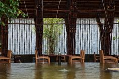 vo trong nghia surrounds country retreat with bamboo wing