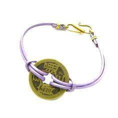 SPIRITUAL Good Luck Bracelet Metallic Purple Style No by zahavblue, $29.00