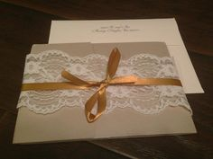 Lace and Gold Wedding Invitations
