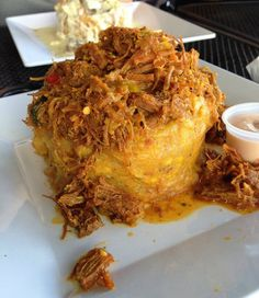 Chicken chicharrones receta carne y cocinas instructions and tips on how to make mofongo mofongo is a traditional puerto rican fried forumfinder Gallery