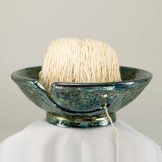 Ceramic Yarn Bowl Knitting Bowl Babari Handmade Wheel by CHpottery, $35.00