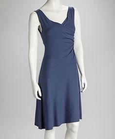Take a look at this Denim Convertible Organic Faux Wrap Dress by Blue Canoe on #zulily today!