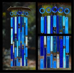 wind chimes made from recycled beach glass by sarahsnature.