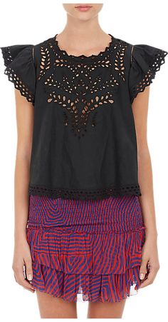Isabel Marant Étoile Eyelet-Embroidered Silo Top - Blouses - Barneys.com