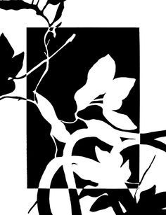 The flowers in this image are created by the contrasting use of both negative and positive space. In this image, the colours for negative and positive space change within the box at the centre. Negative And Positive Space, Negative Space Art, Elements And Principles, Elements Of Art, Story Elements, 8th Grade Art, Fourth Grade, Third Grade, Notan Art