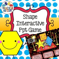 Shape Recognition, Interactive Powerpoint GameThis is a 3-part interactive powerpoint game based around shape recognition. It comes complete with sound effects and is bright, fun and engaging for your students.Each section has one question with 3 answers below to choose from.