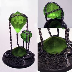 Could be used as a warpstone terrain objective marker or a Skaven unit filler!  Originally called Warhammer 40k Necron crystals by Vice552 but would work for fantasy or mordheim or rpg.