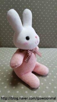 [양말인형만들기] 토끼양말인형 - 도안/상세 과정샷 - 몸통 : 네이버 블로그