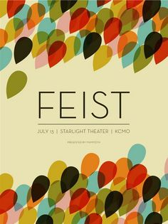 Beautiful poster! love that feist has an artist creating shadow art while she performs - wish i could be that person.