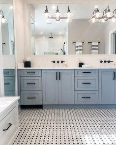 Bathroom Remodel Discover 11 x 11 Arbor Carrara Black Dot Polished Marble Tile Bathroom Kids, Modern Bathroom, Childrens Bathroom, Bathroom Showers, Small Master Bathroom Ideas, Contemporary Bathrooms, Beach House Bathroom, Best Color For Bathroom, Accent Wall In Bathroom