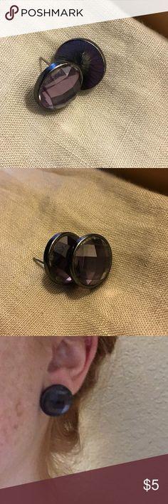 Purple Jewel Stud Earrings Like new! (Cleaned after use/modeling). Jewelry Earrings