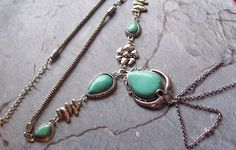 I'll B Your Cowgirl Turquoise -N- Tibetian Silver Statement Necklace Free Shipping and Gift    $23.80