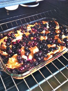 Overnight Blueberry Croissant Casserole, super easy & luscious!! #prepday #makeahead
