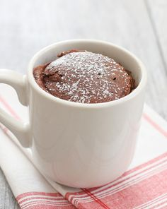 Skinny Chocolate Ice Cream Mug Cake | Kirbie's Cravings | A San Diego food & travel blog