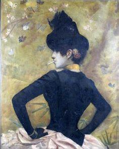 Élégante au corsage noir by Georges Antoine Rochegrosse