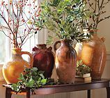 Sicily Vase Collection from Pottery Barn. Beautiful accent piece for any room in the house. Really looks good with the olive branches Pottery Barn sales! Rustic Italian, Italian Home, Italian Patio, Design Toscano, Style Toscan, Tuscan Colors, Tuscany Decor, Tuscan House, Tuscan Decorating