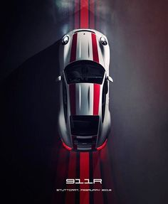 The Porsche 911 is a truly a race car you can drive on the street. It's distinctive Porsche styling is backed up by incredible race car performance. Porsche 550 Spyder, Porsche 911 R, Porsche Autos, Porsche Sports Car, Bmw Autos, Porsche Truck, Pictures Of Sports Cars, Car Pictures, Porsche Sportwagen