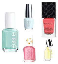"""""""Summer Nail Polish"""" by charfashion17 on Polyvore featuring Essie, OPI, Gucci and Clinique"""