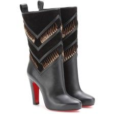 Christian Louboutin - Romy 100 leather mid-calf boots