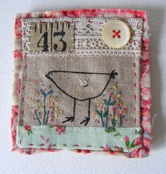 I love Viv's little fabric collages!