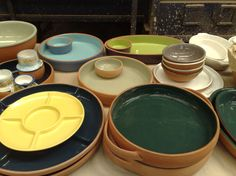 Dishware made from baked clay