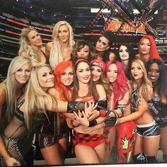 This is the crew the WWE Women Champs! This is the era of women wrestlers! The Bella Twins, Nikki Bella, Brie Bella, Wrestling Divas, Women's Wrestling, Wrestling Stars, Becky Lynch, Wwe Lucha, Hottest Wwe Divas