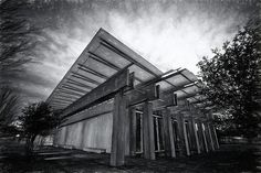 Piano Pavilion II - Joan Carroll  #museum #artmuseum #fortworth #texas #piano #blackandwhite #photography