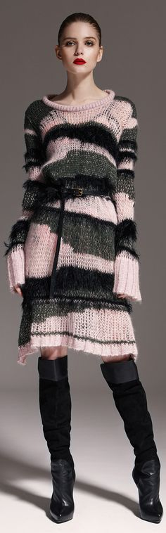 Easy do over for Knitting your own Designer Sweater ~ Marcobologna Fall/Winter 2015-2016