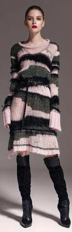 Easy do over for Knitting your own Designer Sweater ~ Marcobologna Fall/Winter 2015-2016