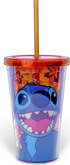 Disney LI11087 Silver Buffalo Lilo and Stitch Happy Stitch Plastic Cold Cup, 16 oz, Multicolor -- Review more details @ - Baking tools