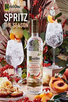 The fire is lit, the apps are prepped. We're ready for a cozy night in with a Botanical Spritz. Botanical Spritz: 1.5 oz Ketel One Botanical + 3 oz Soda Bar Drinks, Yummy Drinks, Alcoholic Drinks, Beverages, Refreshing Summer Cocktails, Festive Cocktails, Girls Night Drinks, Alcohol Drink Recipes, Fruit And Veg