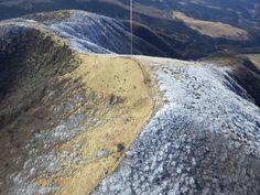 涌蓋山の山頂上空からカイトフォト(Kite Aerial Photography)