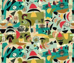 Green eggs and ham fabric by jennski on Spoonflower - custom fabric