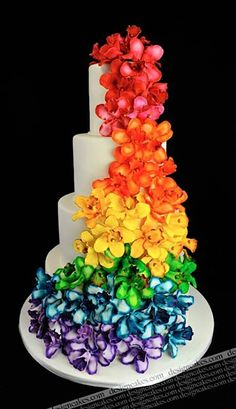 Orchid Ombre Cake