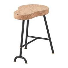 "SINNERLIG stool, cork natural Width: 11 3/8 "" Depth: 16 7/8 "" Height: 17 3/4 "" Width: 29 cm Depth: 43 cm Height: 45 cm"