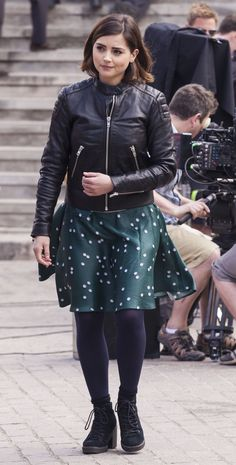 Jenna Coleman on the set of Doctor Who Season 9 in Tenerife (February, 2015).