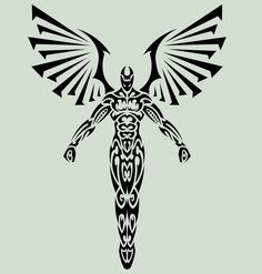 Are you guys passionate about great tribal angel tattoos? Let's view we are offering the best tribal angel tattoo designs. Now a days tattoos of tribal angels are perhaps the most sought angel tattoo designs seen on many types of people. Body Art Tattoos, New Tattoos, Tattoos For Guys, Angle Tattoo For Men, Maori Tattoos, Small Tribal Tattoos, Hunter Tattoo, Angel Tattoo Designs, Geniale Tattoos