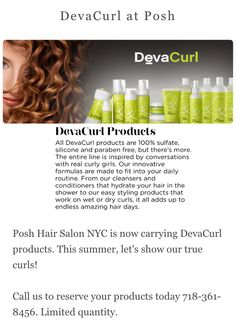 DevaCurl products at Posh!