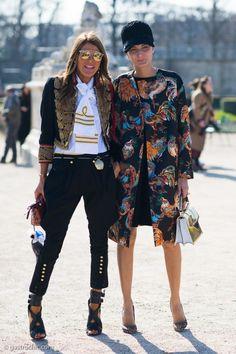 double trouble. AdR & Gio in Paris. #AnnaDelloRusso #GiovannaBattaglia