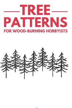 Free printable wood-burning tree partners are easy to find on the internet, but this list gives you a list of options perfect for beginners, Christmas, and those just looking to be sparked with ideas. The tree of life is not represented here but if you have the tools needed for these types of crafts. You will have a hard time finding such diverse designs in one place. #woodburning #trees #pyrography Types Of Craft, Tree Patterns, Painting Flowers, Woodburning, Pyrography, Wood Working, Free Printables, Trees, Internet