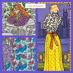 From Color In Fashion: A Stylish Adult Coloring Book