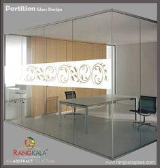 Commercial Partition Glass. It can be used in office cabin separation. so it more comfortable for your staff and look beautiful. Glass Design, Commercial, Cabin, Architecture, Interior, Furniture, Beautiful, Home Decor, Arquitetura