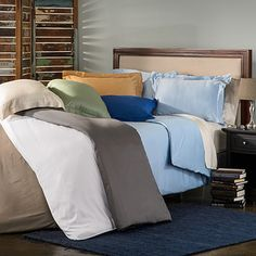 Bamboo Solid 3-piece Duvet Cover Set | Overstock.com Shopping - Great Deals on Duvet Covers